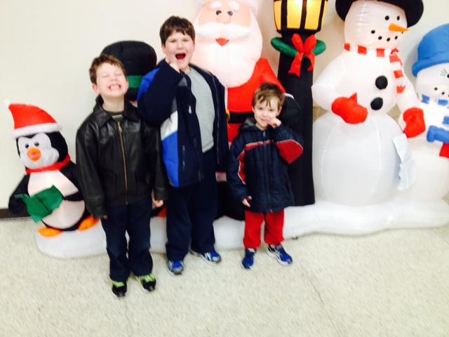 Kids at Night with Santa